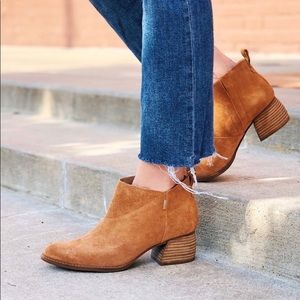 TOMS Leilani Size 8 NWT Carmel Brown Suede